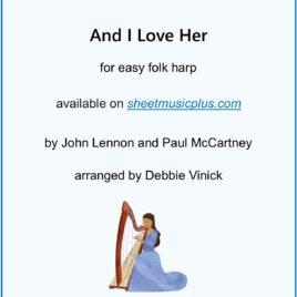 And I Love Her- easy folk harp