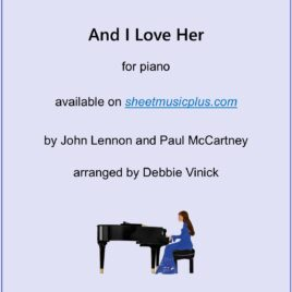And I Love Her- piano